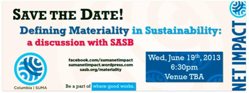 NET IMPACT SUMA: Defining Materiality inSustainability