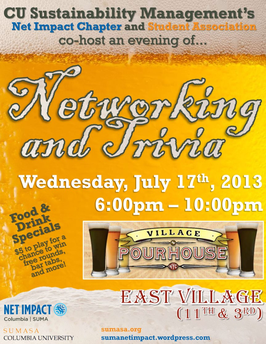 Event: Trivia Night hosted by Net Impact SUMA!