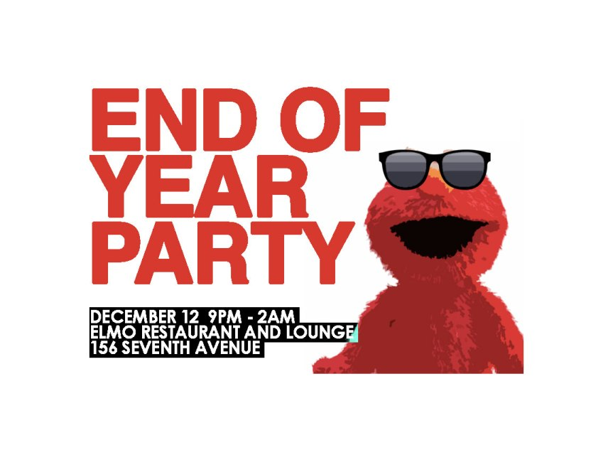 SUMA End of Semester Party – Friday December 12th @ Elmo!