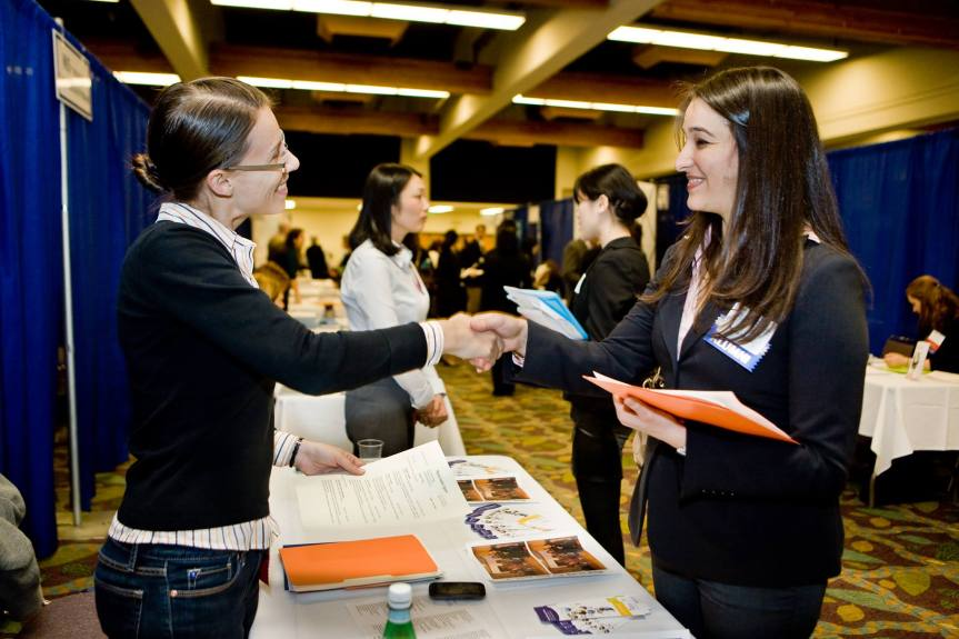 navigating career fair